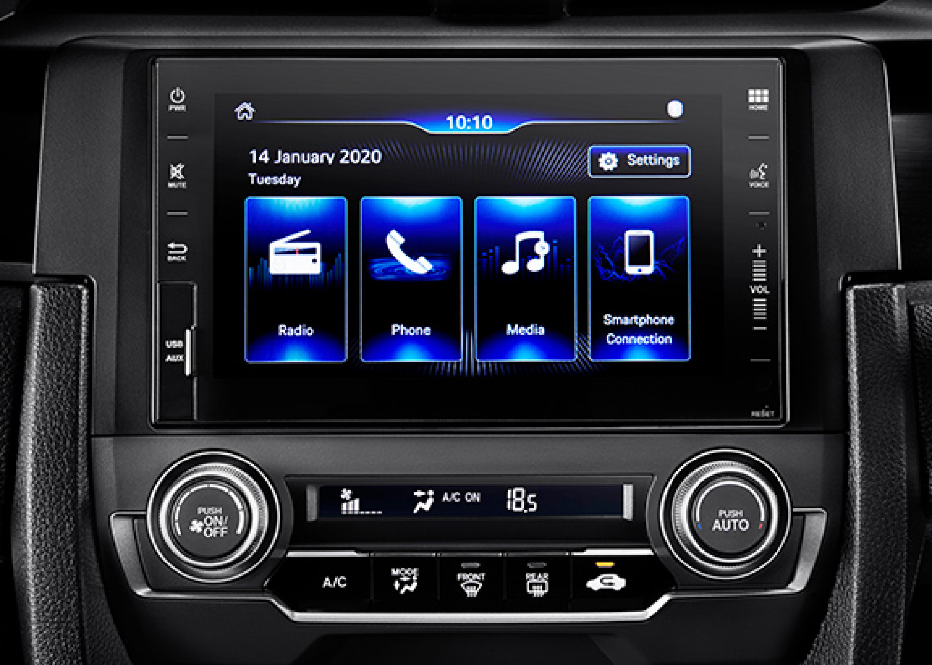 """NEW-7""""-CAPACITIVE-TOUCHSCREEN-DISPLAY-AUDIO-AM-FM-RADIO-AUX-IN-PORT-USB-PORT-SMARTPHONE-CONNECTION-BLUETOOTH"""